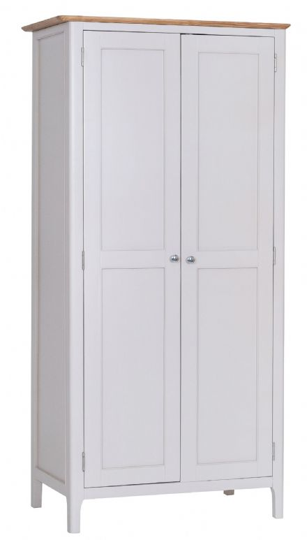Newhaven Grey Painted Full Hanging Wardrobe